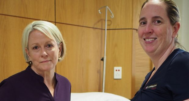 Wesley Hospital chaplain Julie Mackay-Rankin (left) and Clinical Nurse Manager of Maternity Nicola McGlynn.