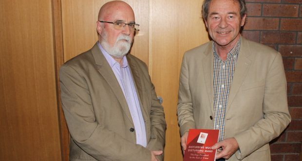 Rev Dr David Mackay-Rankin (left) and Rev Dr Geoff Thompson attend Rev Dr Thompson's book launch. Photo: Supplied