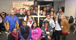 Members of the Uniting Aboriginaland Islander Christian Congress at NYALC 2016. Photo taken by the Uniting Church in Australia, National Assembly.