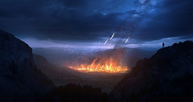 Fire from the Book of Revelation. Photo from Lightstock images.