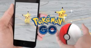 Augmented reality game Pokemon Go. Photo property of Gilang Grimoire YouTube channel, labelled for reuse.