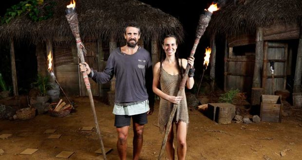 Lee Carseldine and Kristie Bennett made it to the finale of Australian Survivor season three. Photo from Network Ten.