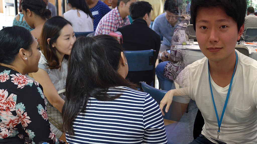 Young leaders at the recent Next Gen Arise gathering at Kangaroo Point Uniting Church. (Right) Noah Kim, Next Gen Arise project officer. Photo: Supplied